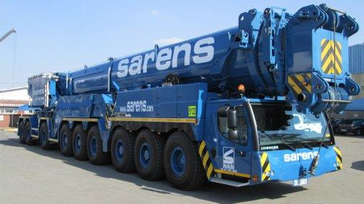 Sarens launches 750-t-capacity hydraulic crane