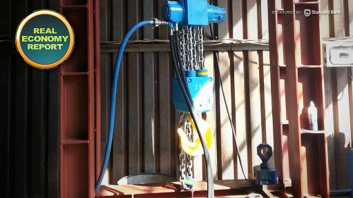 Heaviest pneumatic lifting machinery made in SA