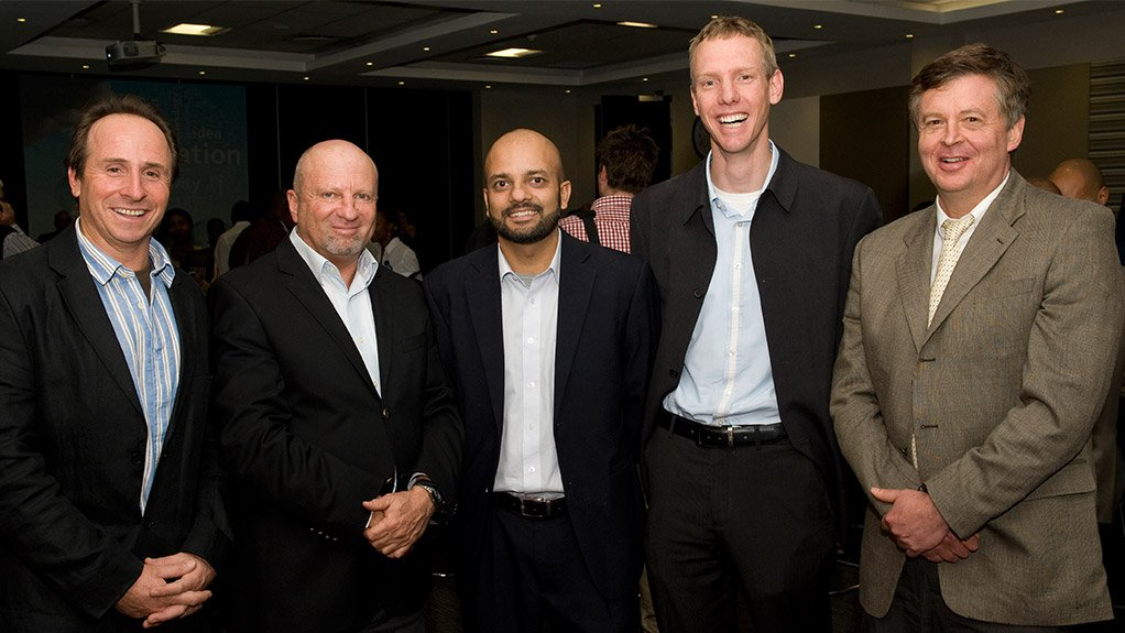 From left: Innovation consultant Peter Greenwall, Step-Up programme manager Martin Feinstein, TIA regional head Muhammed Sayed, Microsoft BizSpark platform director Clifford de Wit and Sasol ChemCity technology development and innovation manager Herman Berry at the launch of the Step-Up Technology Innovation Competition