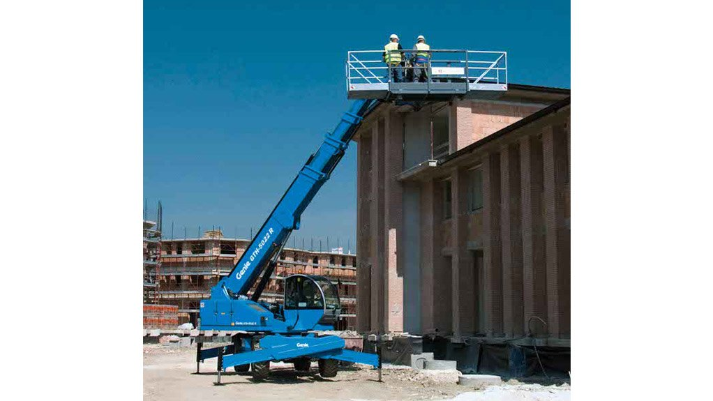 IDEAL ENVIRONMENT The Genie GTH-5022R is suited to  the robust construction environment