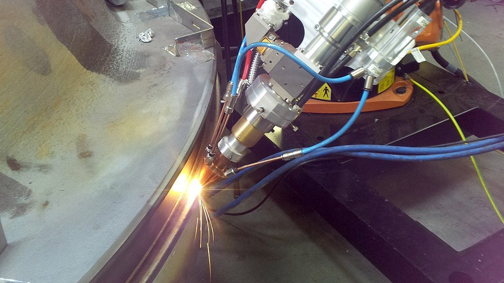 MOBILE LASER CLADDING The technology can be used to effective repair of worn or damage equipment, such as press tools, trim tools, rotating shafts and journals, as well as any other mechanical component