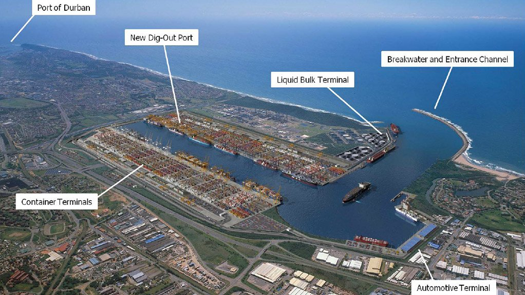 An artist impression of the proposed Durban Dig-out Port