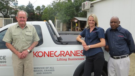 AT YOUR SERVICE Konecranes Southern Africa's Johannesburg parts distribution team offers accelerated delivery services