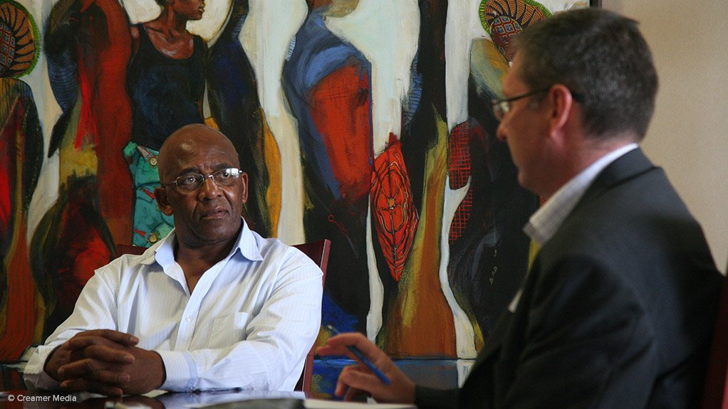 Eskom chairperson Zola Tsotsi in conversation with Terence Creamer