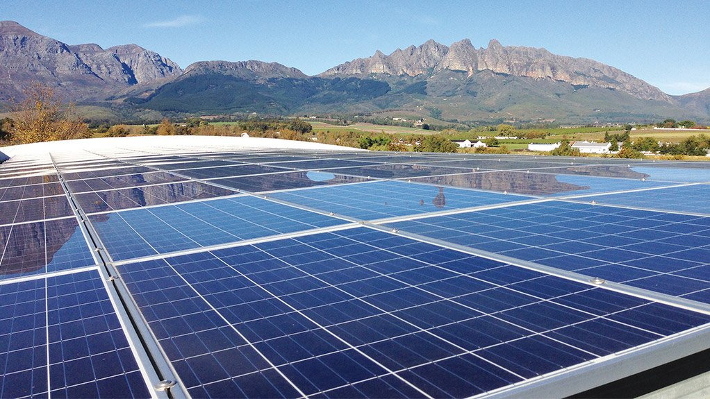 SOLAR STORAGE The rooftop of the storage facilities of the Rooibos tea production plant in the Cederberg region
