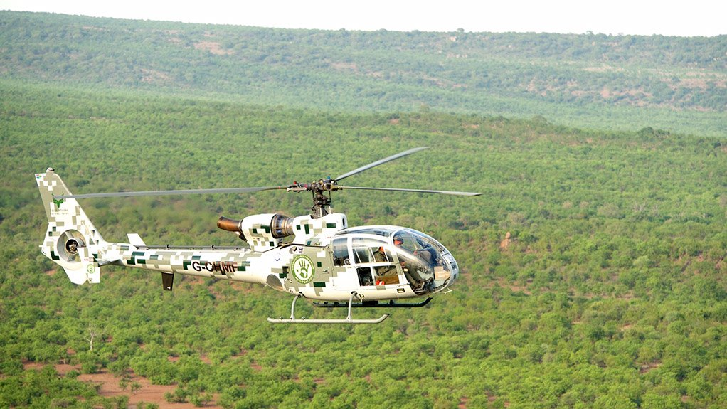 AERIAL SUPPORT The Gazelle helicopter acts as a tactical military tool in support of the counter-poaching units on the ground