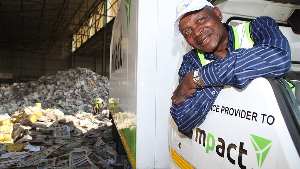 PILING IT ON Piet Matentshi has been running a successful business for more than ten years, collecting recovered paper and delivering it to Mpact's paper mills