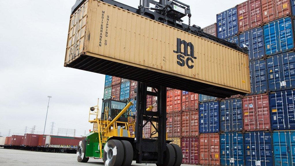 UNDER CONTROL The Taylor Electronic Loaded Container series of container handlers is designed with a more stable platform than that of previous models