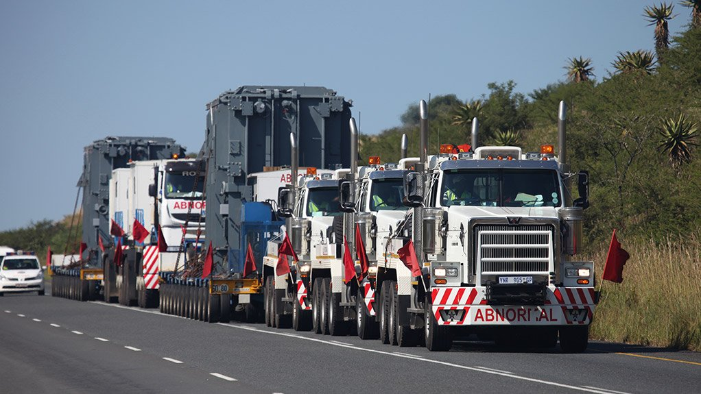 LONG ROAD Departing unladen from Johannesburg and transporting cargo from Richards Bay, in KwaZulu-Natal, and to Lephalale, in Limpopo and back, burns 195 000 ℓ of fuel, a round trip of 3 000 km