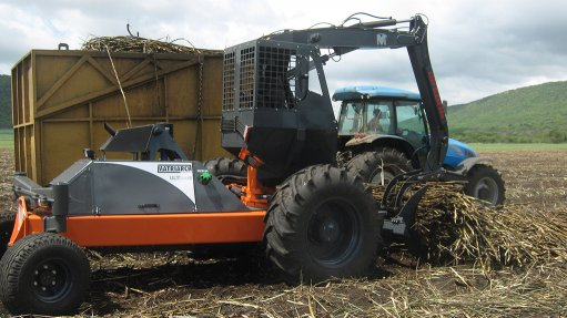 New cane slew  loader on show