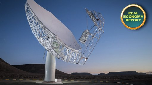 First antenna for MeerKAT radio telescope launched