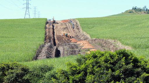 Durban pipeline project still on track for completion in 2017