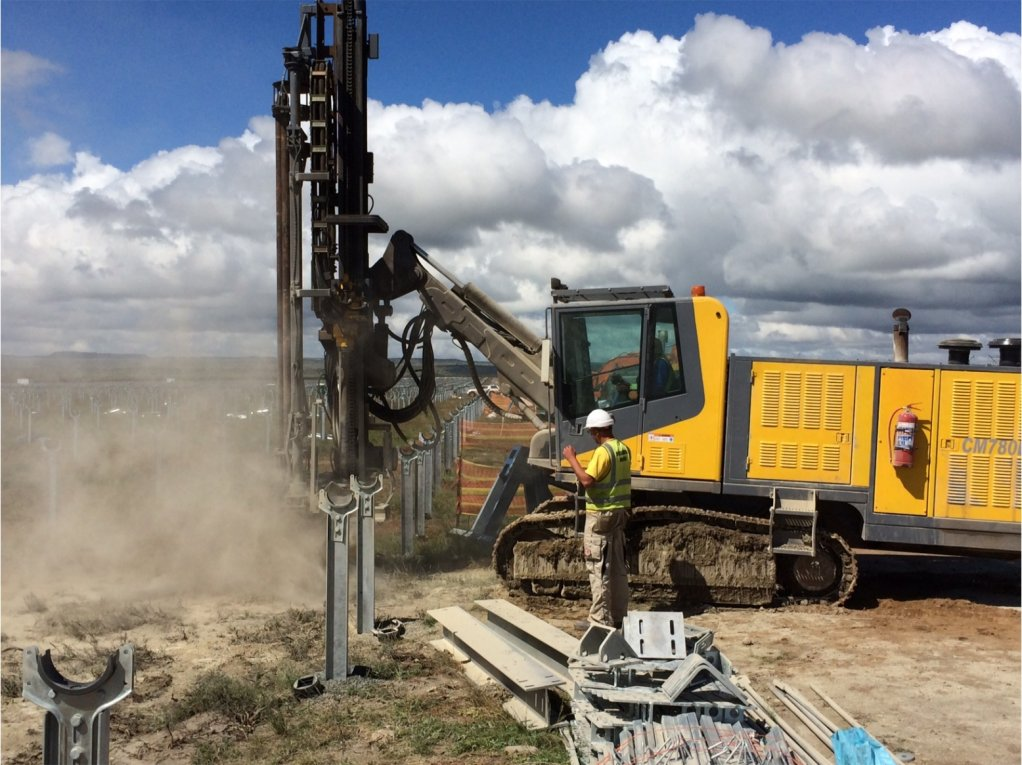 Atlas Copco Surface Drill Rig used by BMI Drilling on PV