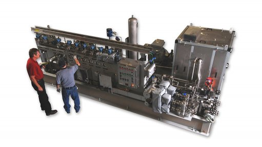 PROCESS GAS COMPRESSOR The R11-million compressor forms part of Sasol's expansion project