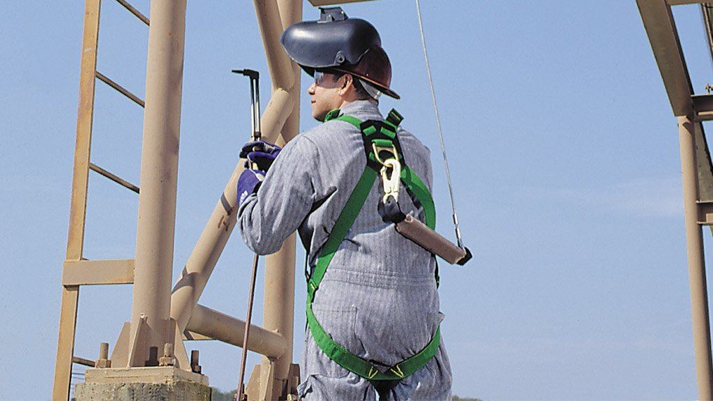 FALL PROTECTION The Thermatek harness is being trialled in the steel, petrochemicals and power-generation industries