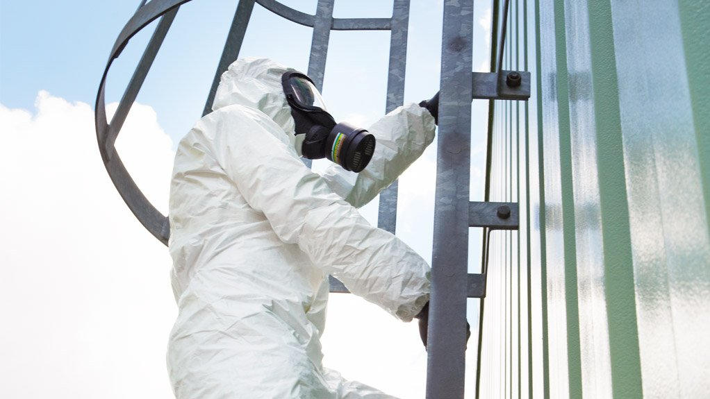 CHEMICAL PROTECTION The Tychem 4000 S is laminated with a chemical barrier film that prevents permeation by inorganic and organic chemicals