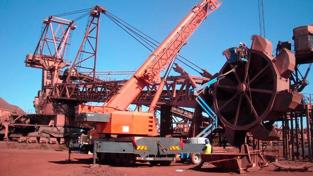LENGTHY DOWNTIME The bucket wheels needed to be removed to replace the bearing, which took up to three weeks