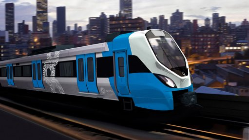 PRASA train project  on track