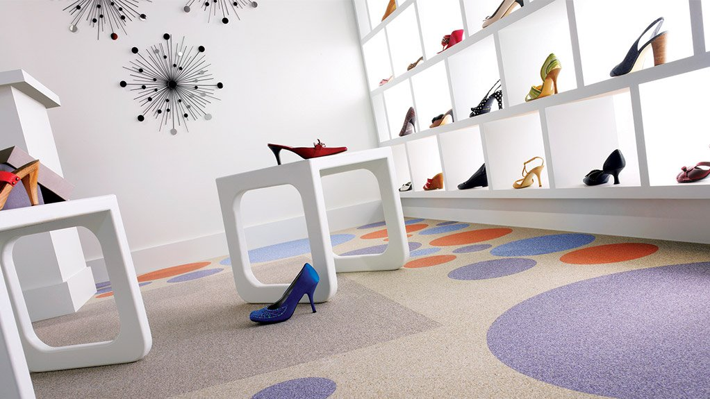 PRODUCT VERSATILITY The ECOsurfaces range of commercial flooring is extremely durable and hard- wearing and can be used in areas that are subject to high traffic
