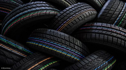 Tyre production levels  below yearly capacity