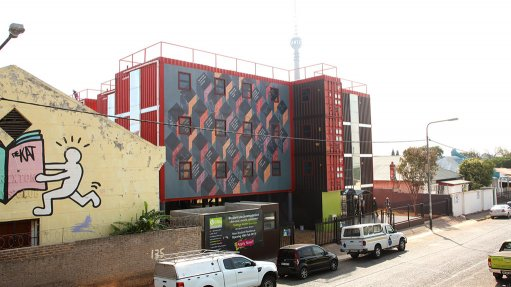 Shipping containers converted into student housing