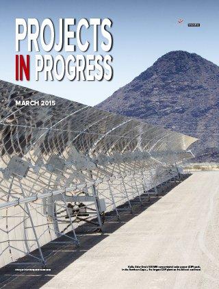 Projects in Progress - March 2015