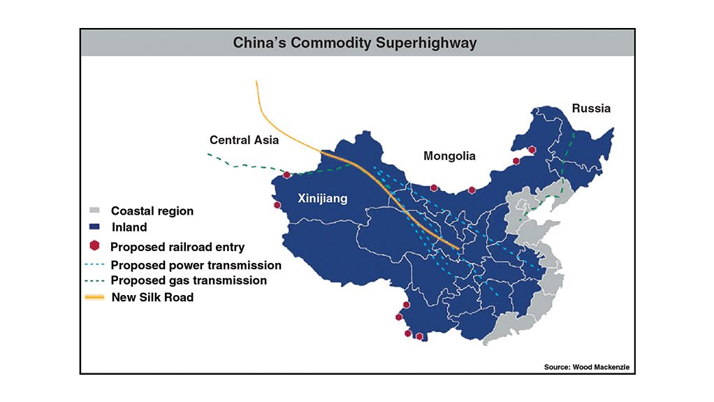 SUPERHIGHWAY The new superhighway will impact the energy trade flows within China and externally through the new Silk Road routes