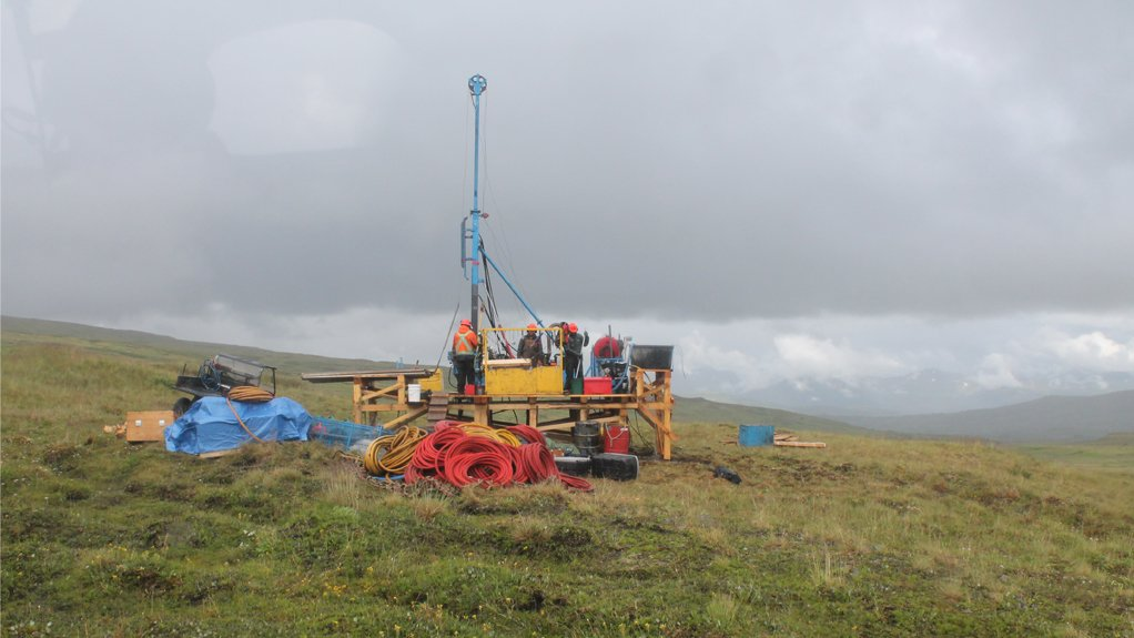 Exploration drilling at the Arctos project, British Columbia.