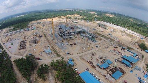 Malaysia ferroalloys project EPC 71% complete