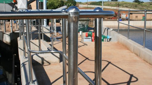 Stainless steel improves handrailing safety