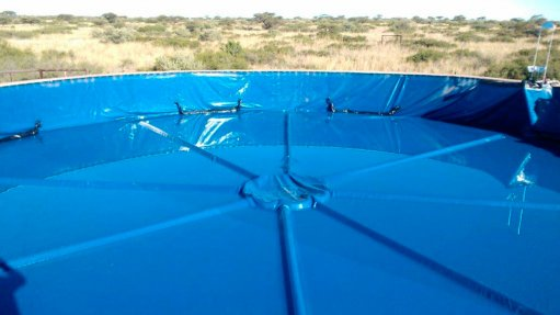 SECURING WATER  Damax Kahn and Kahn Plastics' dam liner is an effective barrier against water loss