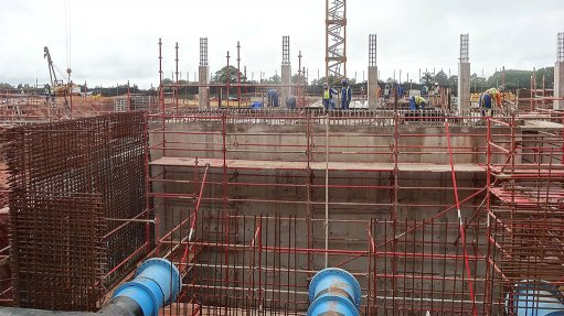 RELIEF Once operational, the Ashley Drive break pressure tank is expected to store 20 Mℓ of water