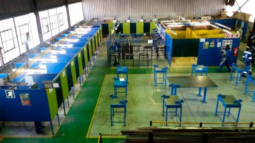 ARTISAN CULTIVATION The training centres collectively specialise in welding, boilermaking, fitting and rigging and produce about 165 artisans over 24 to 48 months