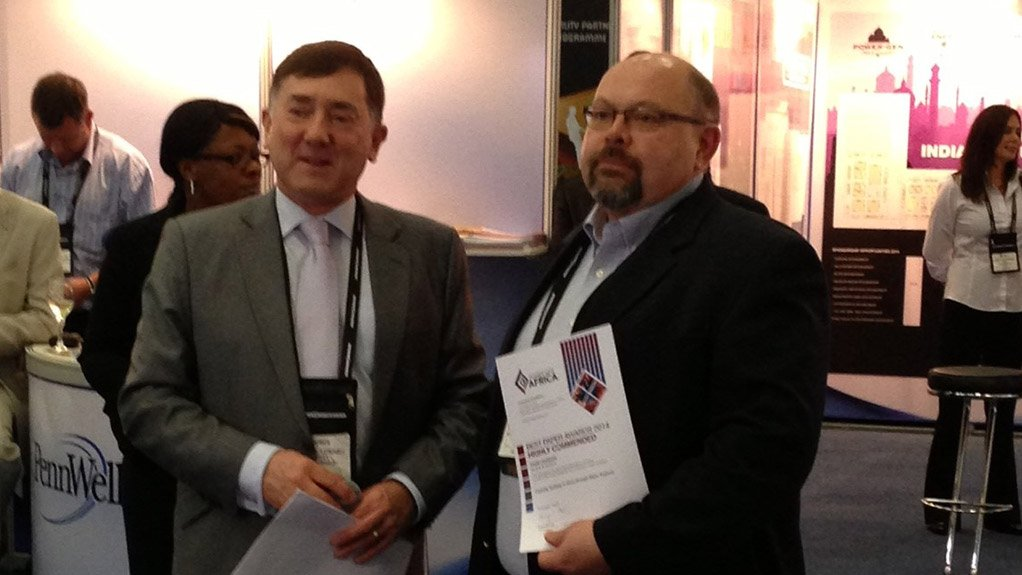 From left: Power-Gen Africa event director Nigel Blackaby, and Black & Veatch VP and project director Dave Leligdon
