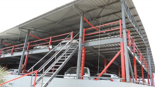 Steel mezzanine floors boost  auto dealers' parking capacity