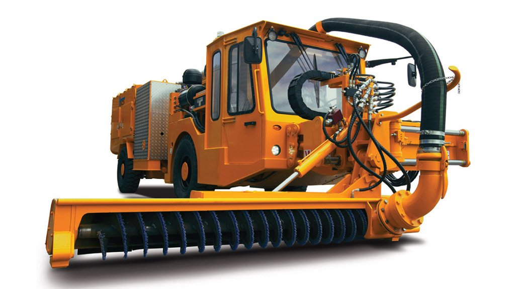 UBCV CLEANING MODE The vehicle has an integrated vacuum system for cleaning spillage, especially under conveyors