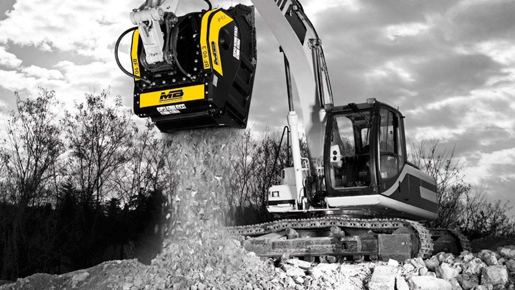 BF90.3 MB Crusher's BF90.3 easily attaches to excavators for fast crushing of a variety of materials