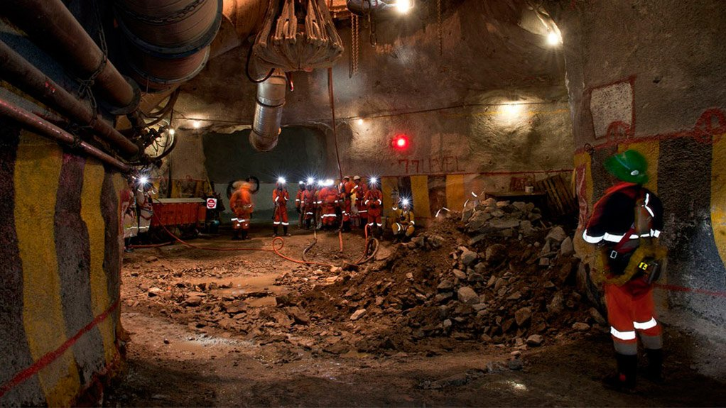 DIGGING DEEP In July the main shaft of the Bakubung mine had been sunk to 803 m below collar