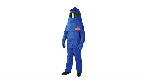 Caption:  SURVIVE-ARC SWITCHING SUIT Charnaud's FR Range is IEC, SAB-S and NFPA approved