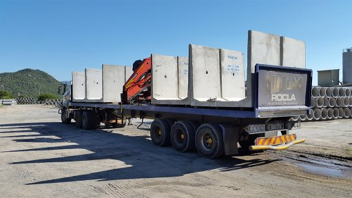 Custom-made concrete products supplied to Moz power station