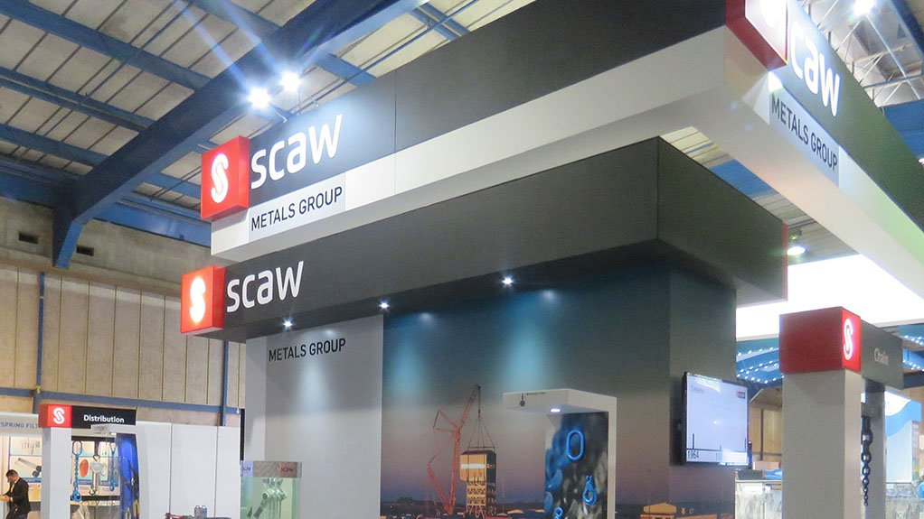 PUTTING IT OUT THERE Scaw Metals' stand at BAUMA CONEXPO AFRICA 2015
