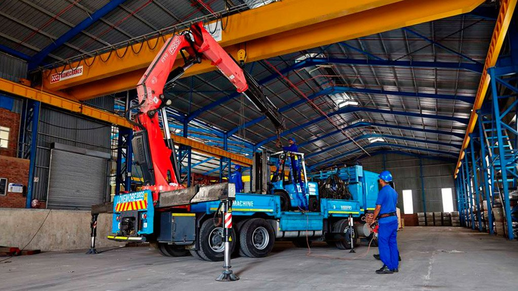 MACHINE MOVING Lovemore Bros recently invested in a new warehouse facility to extend its storage and handling capability in KwaZulu-Natal