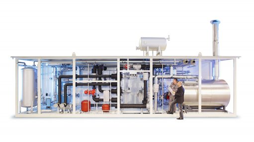Packaged heating system to  reduce heavy fuel oil's viscosity