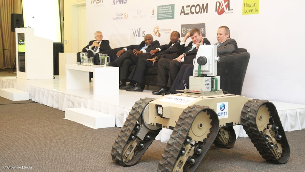 State-of-the-art mining equipment on display at the Joburg Indaba
