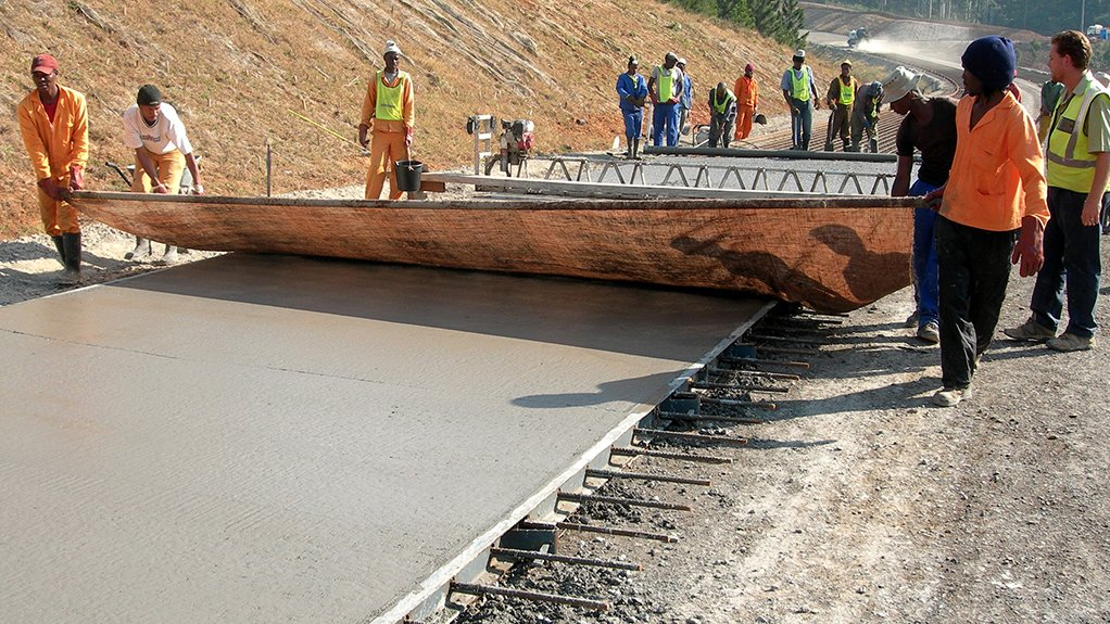 JOB CREATOR Building concrete roads requires little machinery and can therefore create more low-skilled jobs