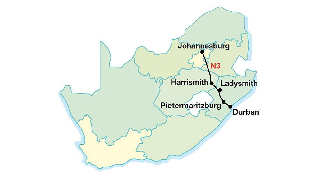 KEY CORRIDOR The N3 runs from Durban to Johannesburg