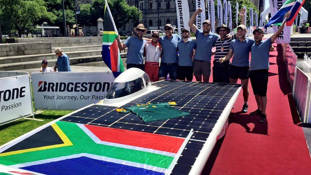 The NWU team's Sirius X25 at the finish line