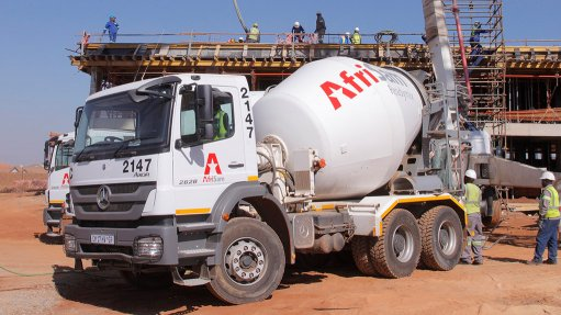 SUSTAINABILITY FOCUS AfriSam has focused on providing more sustainable solutions by offering readymix concrete