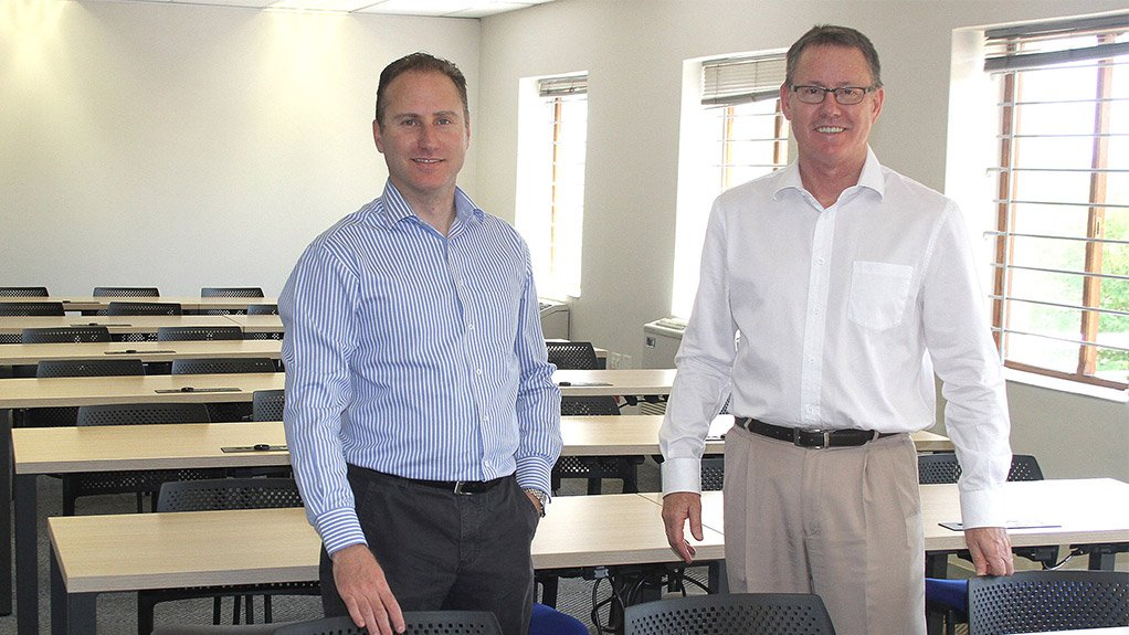 ENHANCED ENVIRONMENT  Larry Feinberg and Karl Trusler at the new EduTech Training Centre of the Association of South African Quantity Surveyors
