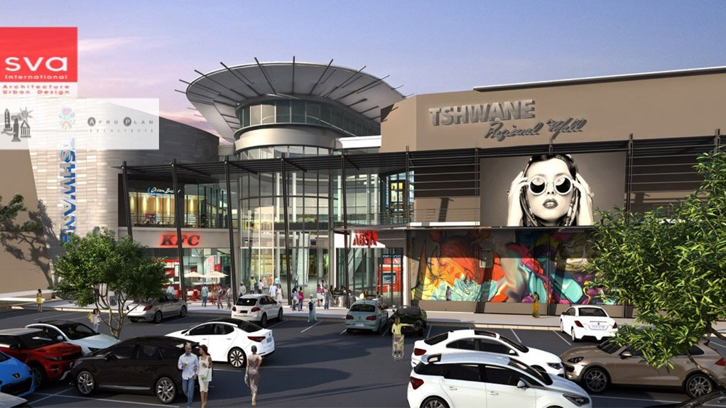 TSHWANE REGIONAL MALL An artist's impression of what the Mamelodi mall will look like when it opens in April 2017